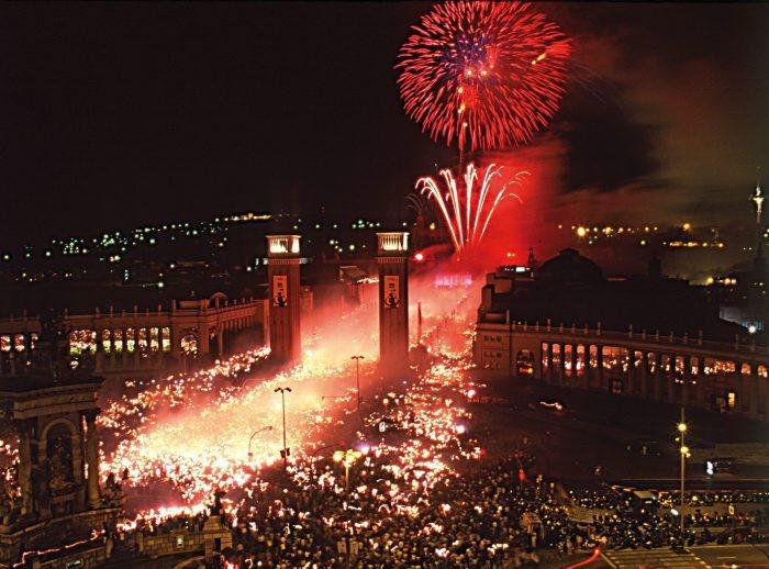 Montjuic fireworks at La Mercè in Barcelona